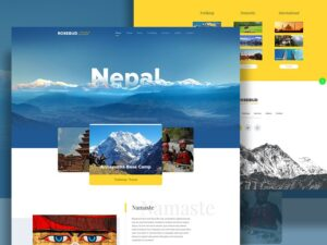 nepal travel website deisgn